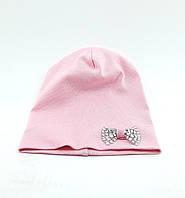 Трикотажная шапка двойная детская и подростковая оптом 48-53р