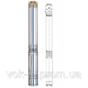 Насос погружной Aquatica (dongyin) 0,75 кВт (Н-113 м, Q-45 л/мин, Ø-75 мм), фото 2