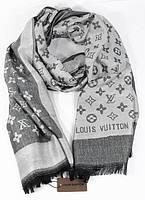 Палантин кашемировый серый двусторонний Louis Vuitton 8881