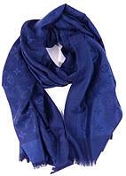 Палантин кашемировый темно-синий двусторонний Louis Vuitton 8881, фото 1