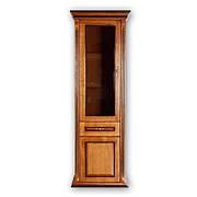 Витрина однодверная деревянная  в гостиную Медея прямая цвет на выбор,  РКБ-Мебель