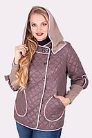 Куртка весенняя женская стёганая (темная)