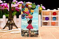 Силиконовый чехол для Samsung Galaxy S4 mini с рисунком девушка с шарами