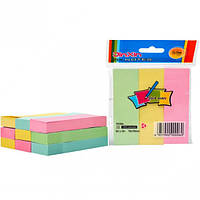 Стик цветной для заметок с клейким слоем 25х76, 3 полосы по 100 листов