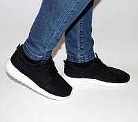 Женские кроссовки Caros сетка черные