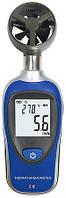 Цифровой анемометр MT905C (SR55M2 MINI) (от 0,2 до 30 м/с) с измерением температуры воздуха