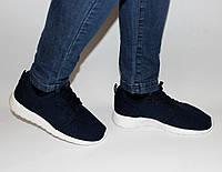 Женские кроссовки Caros сетка синие