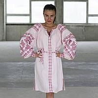 Сукня «Подоляночка» льон рожевий