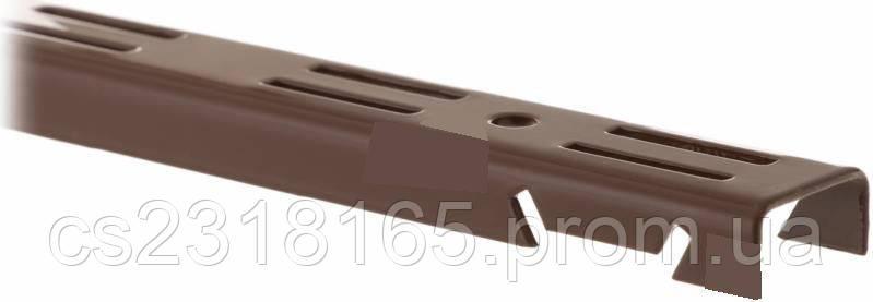 Стойка перфорированная для консольной системы, 2000х25мм, белая, коричневая