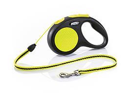 Flexi Neon S трос 5 метров до 12 кг поводок-рулетка для собак