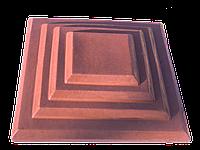 Крышка бетонная на столбик забора 31х31х 7,5