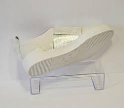 Серебристые слипоны Favi 006, фото 3