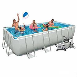 Каркасный бассейн Intex 28352/4 (54982). Ultra Frame Rectangular Pool 549 х 274 х 132 см