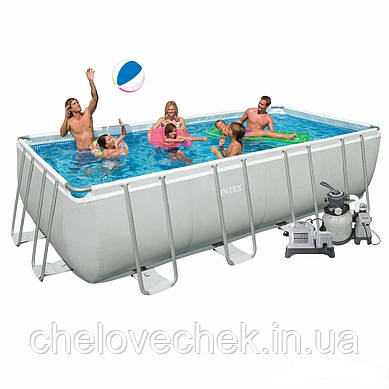 Каркасный бассейн Intex 28352/4 (54982). Ultra Frame Rectangular Pool 549 х 274 х 132 см
