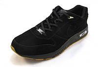 Кроссовки мужские  Nike замшевые, черные (найк)(р.43,44,46)