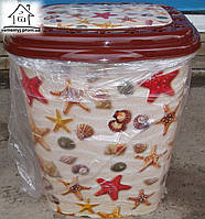 Корзина/Бак для белья Elif Plastik Морские звезды