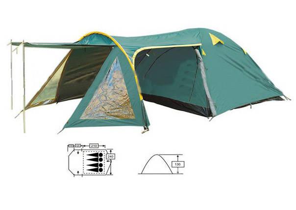 Туристическая палатка Zelart SY 207-4 с тентом и тамбуром4-х местная. 2-х слойная, фото 2