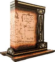Библейский атлас Сертификат. Бархатный чехол 250х320х45мм мелованная бумага, цветная печать, иллюстрации