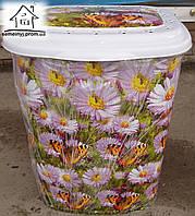 Корзина/Бак для белья Elif Plastik Бабочки