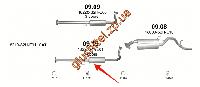 Резонатор Хонда ХРВ (Honda HRV) 1.6i-16V 4X2+4X4 98-05 (09.15) Polmostrow алюминизированный