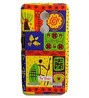 Чехол накладка для Lenovo K6 K33a48 силиконовый светящийся Ted Baker, Tribal