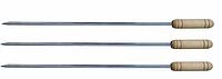 Шампур нержавейка Деревянная ручка плоский 600х10х 2мм