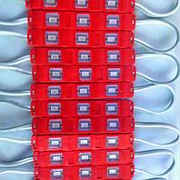 Светодиодный LED модуль smd 5630-3 R красный IP65 с линзой