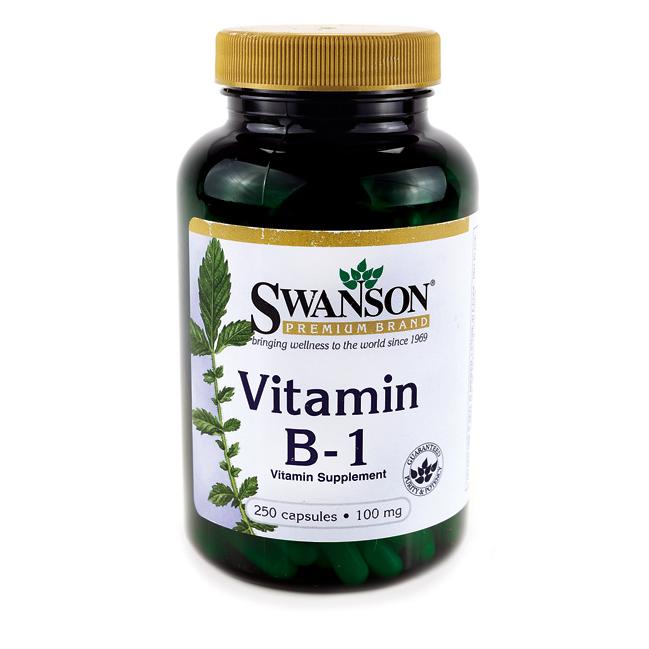 Витамин B-1, Натуральная Поддержка Обмена Веществ, 100 мг. 250 капсул *