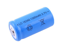 Аккумулятор 16340-1300mAh, синий SO