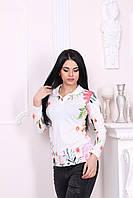 Кофта женская спортивная с принтом цветочным