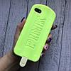 Силиконовый чехол мороженое Pink для iPhone 5/5s/se, фото 2