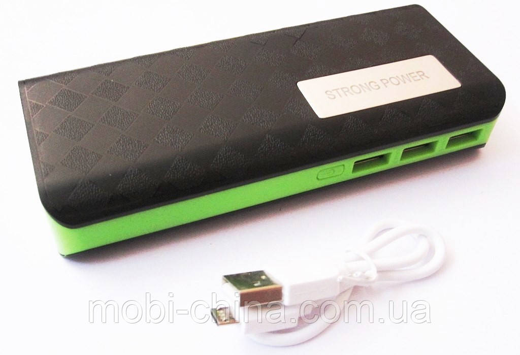 Универсальная батарея PowerBank Strong Power 3818 на 50000 mAh с фонариком, black