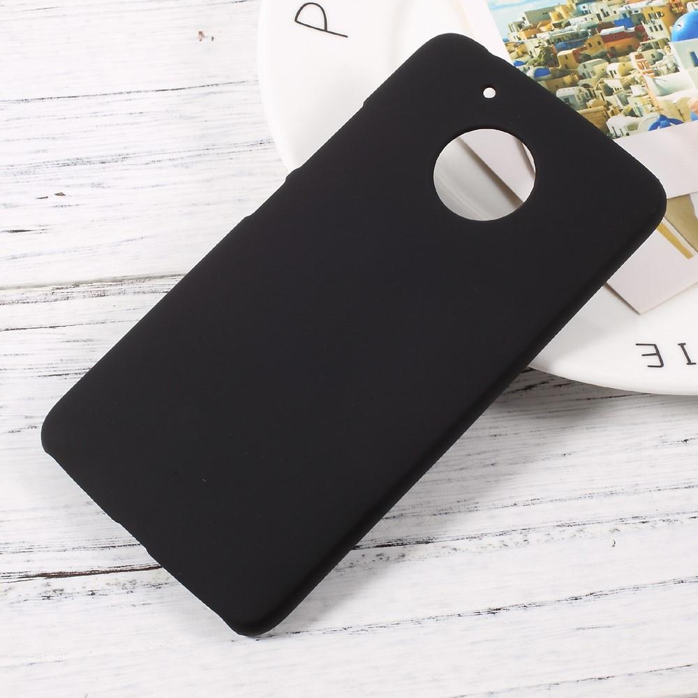 Чехол накладка пластиковый Rubberized для Motorola Moto G5 черный