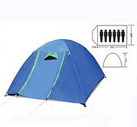 Туристическая палатка Zelart SY 017 с тентом 6-ти местная. 2-х слойная
