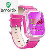 Детские умные смарт часы Smart Baby Watch Q80 с GPS трекером для отслеживания (розовые). Русский язык! Киев