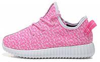 Женские кроссовки Adidas Yeezy Boost 350 Low Pink 2 (Адидас Изи Буст 350) розовые