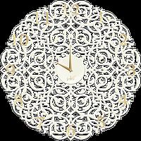 """Дизайнерские настенные часы """"Икониум"""" (33 см) белые [МДФ, Открытые]"""