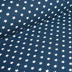 Джерси белые звезды на синем 120*148 №0046
