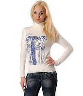 Женский свитер с вешалкой и цепочкой белый, фото 1