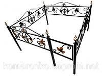 Металлическая ритуальная ограда «Кованый лист»