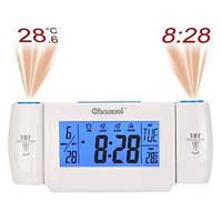 Часы с двумя проекторами и сенсорным датчиком включения подсветки cw8373