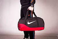 Сумка спортивная, для тренировок, дорожная, через плечо, Nike мужская черный+красный