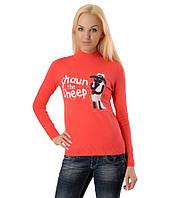 Женский свитер Shaun  коралловый, фото 1