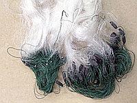 Сеть рыболовная трехстенка, из лески, для промышленного лова, 50*1,8 м, 30-80 мм, полностью готова, белая