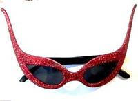 Очки карнавальные для вечеринки косые