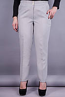 Элия. Классические брюки женские супер сайз. Серый.