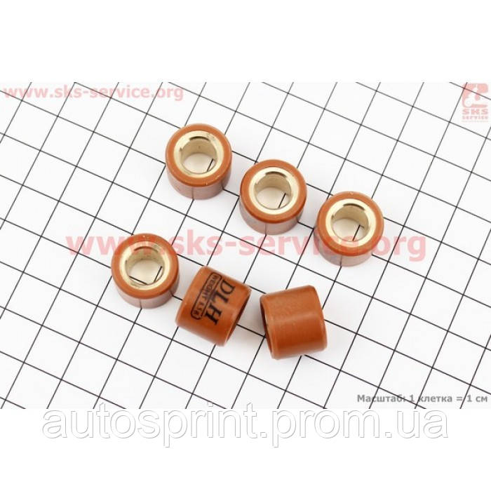Ролики вариатора 6шт, Honda/GY6 16*13 - 5,5гр TUNING