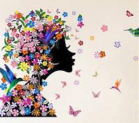 """Интерьерная наклейка на стену """"Цветочная фея"""""""