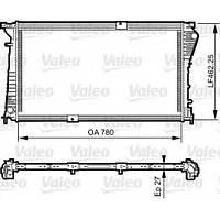 Радиатор охлаждения двигателя на Renault Trafic 2,5dCi (146 л.с.) с 2006... Valeo (Франция), VAL734931