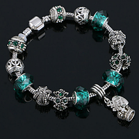 Женский браслет в стиле Pandora Green